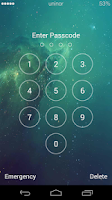 Screenshot of iOS 7 Galaxy Lockscreen