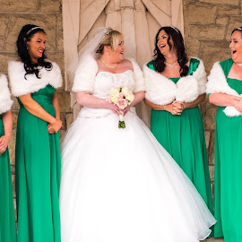 A Scottish Irish Wedding! by Ray Rosher - Wedding Bride ( bridesmaids, catholic wedding, catholic, church, wedding, white dress, wedding dress, bride, women )