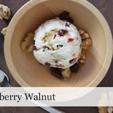 Cranberry Walnut Ice Cream