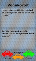 Screenshot of Driverslicencetest Norway
