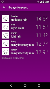 PurpleWeather - screenshot