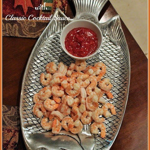 Easy Steeped Shrimp with Classic Cocktail Sauce