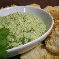 Jade Hummus With Pita Crisps