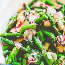Asparagus & Radishes with Mint