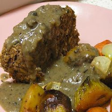 Nut Roast with Mushroom Sauce