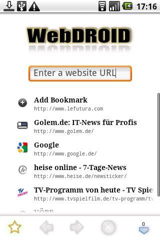 WebDROID 2 WebBrowser