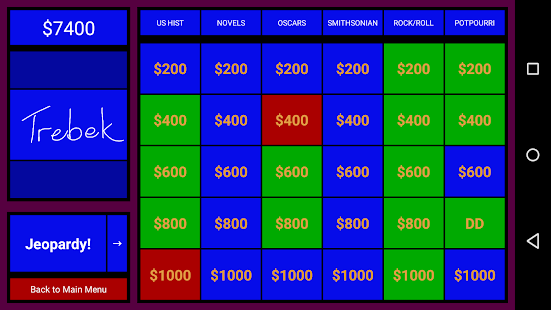 J! Interactive Jeopardy Scorer - screenshot