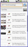 Screenshot of Auto Accessories Shopper