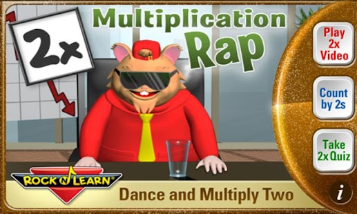 Multiplication Rap 2x - screenshot