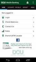 Screenshot of DCU Mobile Banking