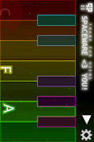 Screenshot of Space Piano