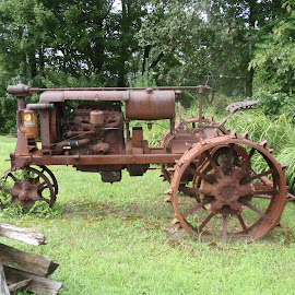 Grandpa's Tractor by Deegee English - Transportation Other ( old tractor, rusty tractor, old timey, tractor, pretty tractor )