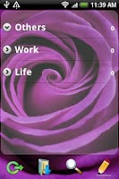 Screenshot of Ultra Notes theme - Purple M 0