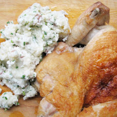 Sunday Supper: Brick Chicken with Smashed Potatoes