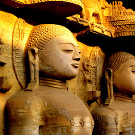 Peaceful Warriors by Pranjal Jain - Buildings & Architecture Statues & Monuments ( religion, history, life, peaceful, caves, meditation, jainism,  )