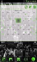 Screenshot of GOWidget Green ICS Light Free