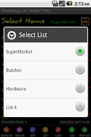Screenshot of Shopping List Maker Plus