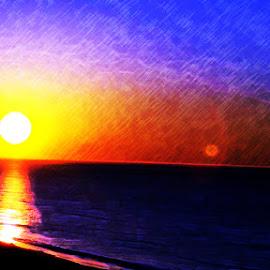 Sunrise over Ft. Walton by Gina Sledge - Digital Art Places