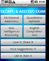 Screenshot of SSC SI ASI CAPF CISF CRPF ITBP