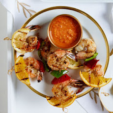 Grilled Shrimp and Citrus Skewers