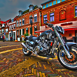 Motorcycle Alkmaar Netherlands by Guido Flock - Transportation Motorcycles ( alkmaar, hdr, holland, motorcycle, netherlands )