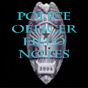 police officer field notes icon