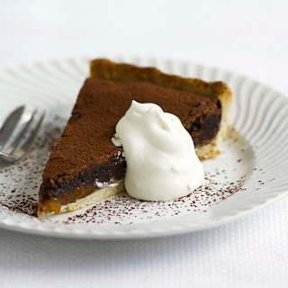 Warm Chocolate And Orange Tart