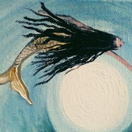 mermaid dream by Rhonda Lee - Painting All Painting ( art, mermaid, painting )