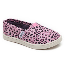 Toms Pink Leopard Slip On CANVAS