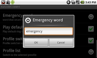 Screenshot of AutoSMS  (AutoReply) Smart