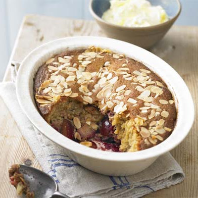 Plum & Almond Pudding