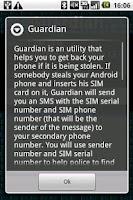 Screenshot of Guardian