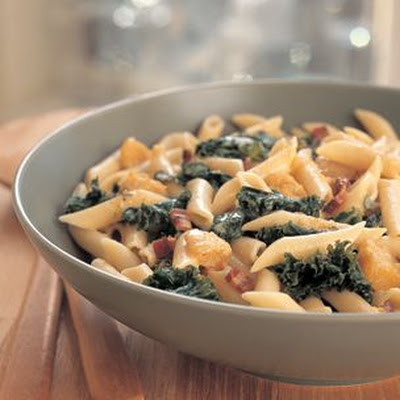 Penne with Winter Squash and Pancetta
