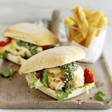 Italian-style Chicken Burger & Chips