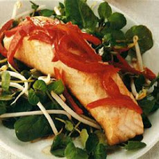 Warm Teriyaki Salmon Salad