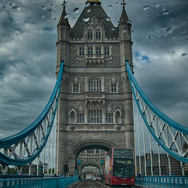 Tower Bridge in the Rain by Tracy Hughes - Buildings & Architecture Bridges & Suspended Structures
