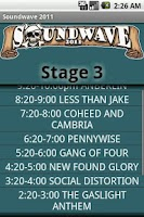 Screenshot of Soundwave 2011