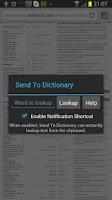 Screenshot of Send To Dictionary