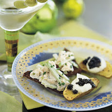 Creamy Smoked Trout with Apple and Horseradish on Crisp Brown Bread
