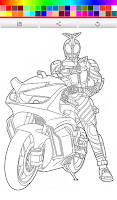 Screenshot of Coloring Kamen Rider