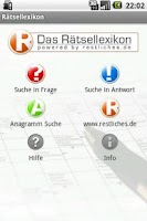 Screenshot of Das Rätsellexikon