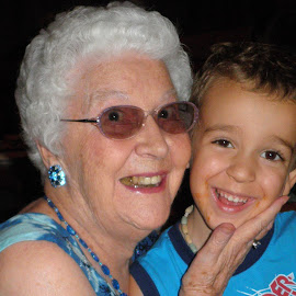 Kyle loves his Grandma Marge. by Denise Dunkley Hall - People Family