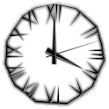 Black Icicle Animated Clock icon