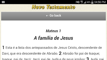 Screenshot of Novo Testamento