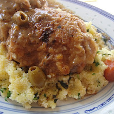 Cook the Book: Braised Chicken with Apricots, Green Olives, and Herbed Couscous