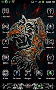 Tribal Metal Go Launcher Theme - screenshot
