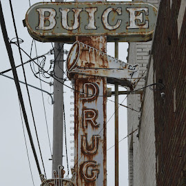 old school by Gene Walkowicz - Buildings & Architecture Other Exteriors ( sign, old neon metal )