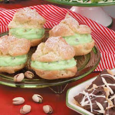 Pistachio Cream Puffs