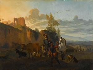 RIJKS: copy after Karel Dujardin: painting 1700