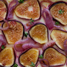 Fig Tart with Caramelized Red Onions